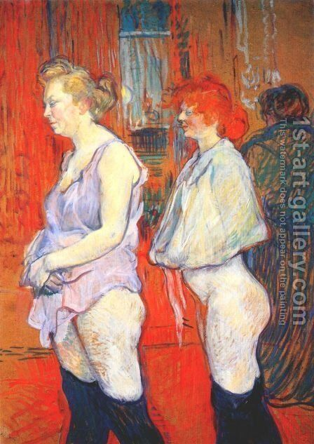 Rue Des Moulins   The Medical Inspection by Toulouse-Lautrec - Reproduction Oil Painting