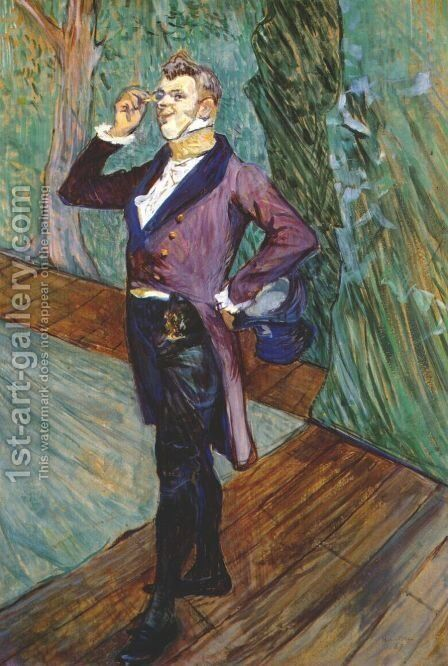 The Actor Henry Samary by Toulouse-Lautrec - Reproduction Oil Painting
