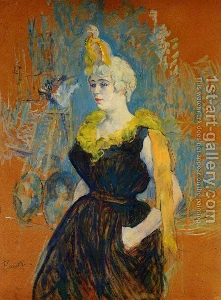 The Clownesse Cha U Kao by Toulouse-Lautrec - Reproduction Oil Painting