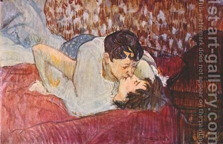 The Kiss by Toulouse-Lautrec - Reproduction Oil Painting