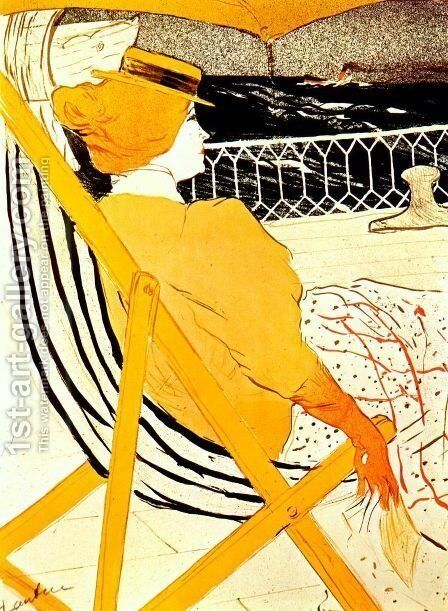 The Passenger In Cabin 54 by Toulouse-Lautrec - Reproduction Oil Painting