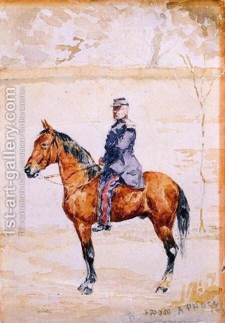The General At The River by Toulouse-Lautrec - Reproduction Oil Painting