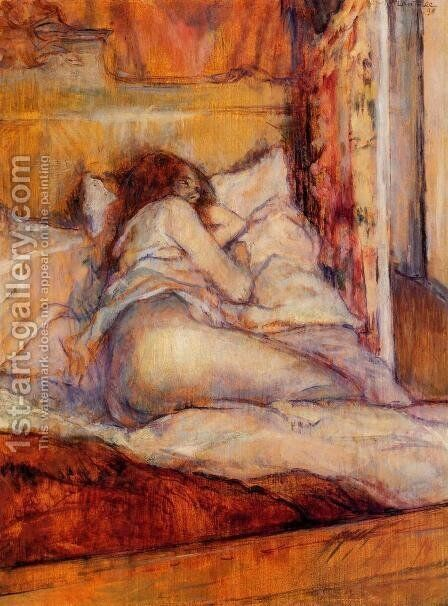 The Bed by Toulouse-Lautrec - Reproduction Oil Painting