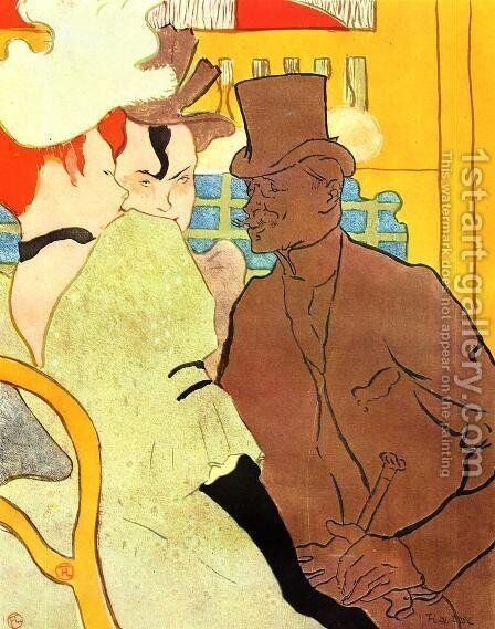 The Englishman At The Moulin Rouge by Toulouse-Lautrec - Reproduction Oil Painting