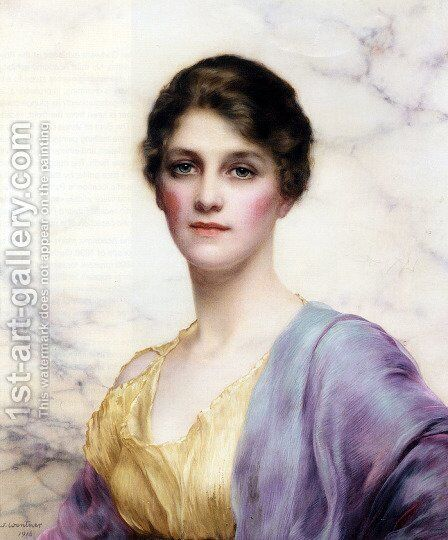 An Emerald Eyed Beauty by William Clarke Wontner - Reproduction Oil Painting
