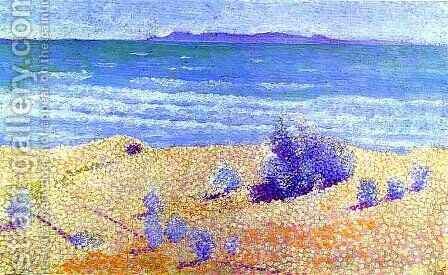 Beach On The Mediterranian by Henri Edmond Cross - Reproduction Oil Painting