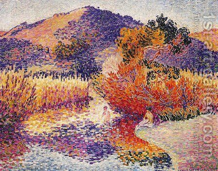 River In Saint Clair by Henri Edmond Cross - Reproduction Oil Painting
