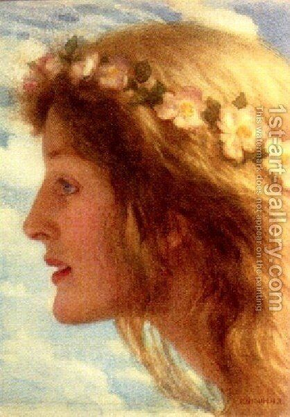 Day by Edward Robert Hughes R.W.S. - Reproduction Oil Painting
