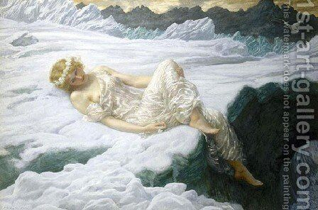 Heart Of Snow by Edward Robert Hughes R.W.S. - Reproduction Oil Painting