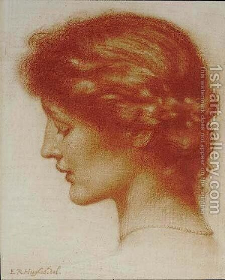 Portrait Of Rosalind by Edward Robert Hughes R.W.S. - Reproduction Oil Painting