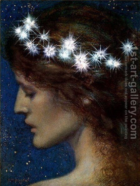 Star Of Heaven by Edward Robert Hughes R.W.S. - Reproduction Oil Painting