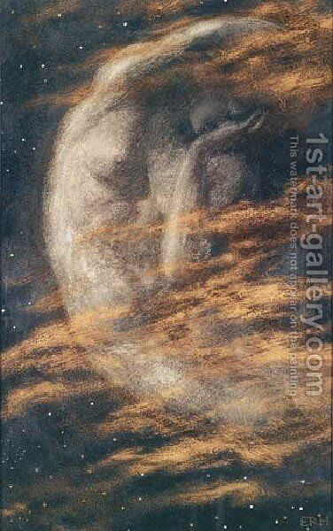 Weary Moon by Edward Robert Hughes R.W.S. - Reproduction Oil Painting