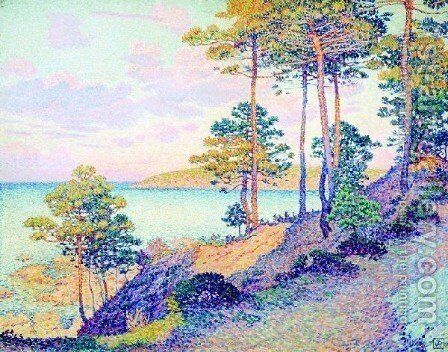 La Pointe St Pierre At St Tropez by Theo Van Rysselberghe - Reproduction Oil Painting