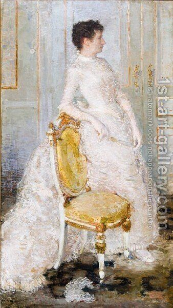 Madame Oscar Ghysbrecht by Theo Van Rysselberghe - Reproduction Oil Painting