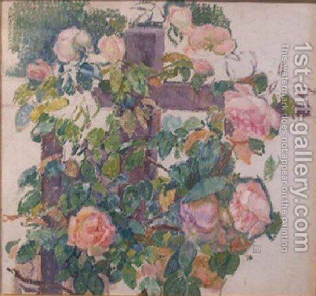 Roses Grimpantes by Theo Van Rysselberghe - Reproduction Oil Painting