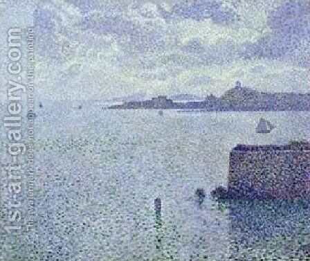 Sailing Boats In An Estuary by Theo Van Rysselberghe - Reproduction Oil Painting