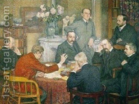 The Reading by Theo Van Rysselberghe - Reproduction Oil Painting
