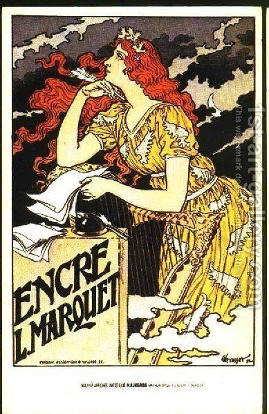 Wall art Reproduction. poster Encres: Vintage French advertising