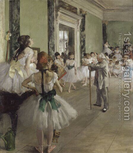 The Dance Class 1873-76 by Edgar Degas - Reproduction Oil Painting
