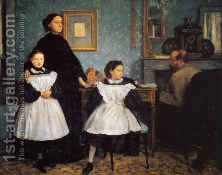 The Bellelli Family 1859-60 by Edgar Degas - Reproduction Oil Painting