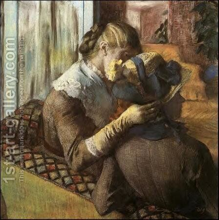 At The Milliners by Edgar Degas - Reproduction Oil Painting