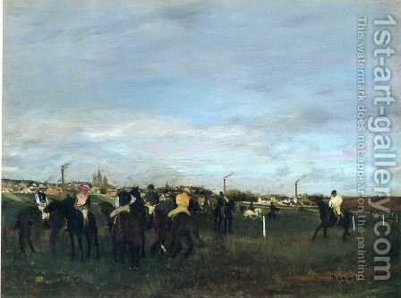 Before The Race by Edgar Degas - Reproduction Oil Painting