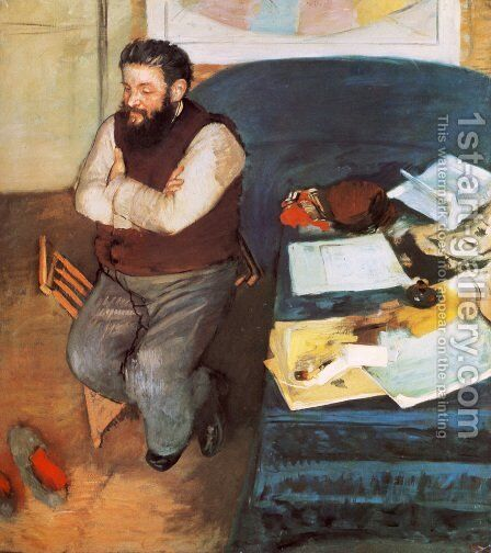 Diego Martelli by Edgar Degas - Reproduction Oil Painting