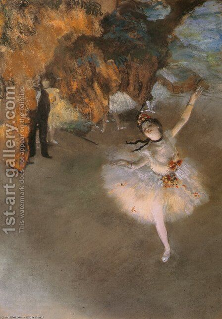 L Etoile by Edgar Degas - Reproduction Oil Painting