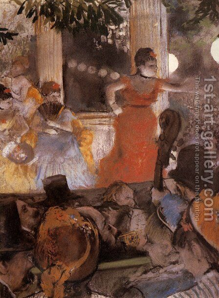 Aux Ambassadeurs by Edgar Degas - Reproduction Oil Painting
