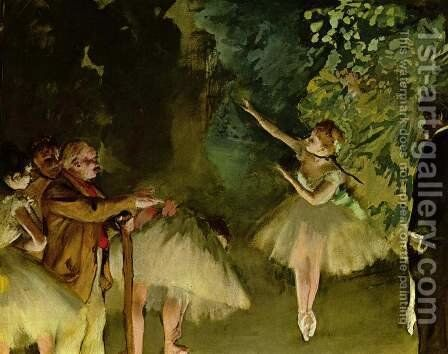 Ballet Rehearsal by Edgar Degas - Reproduction Oil Painting