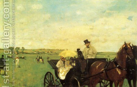 A Carriage At The Races by Edgar Degas - Reproduction Oil Painting