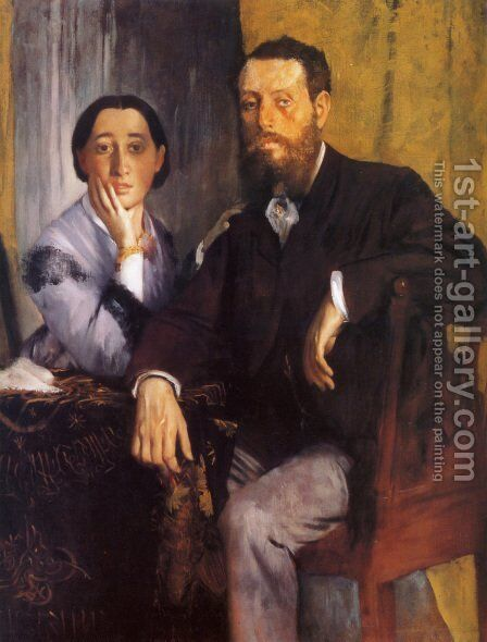 Edmond And Therese Morbilli by Edgar Degas - Reproduction Oil Painting