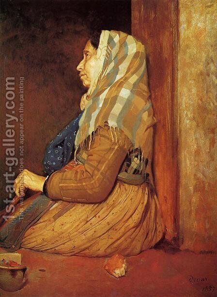 A Roman Beggar Woman by Edgar Degas - Reproduction Oil Painting