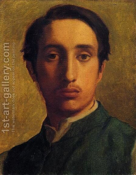 Degas In A Green Jacket by Edgar Degas - Reproduction Oil Painting