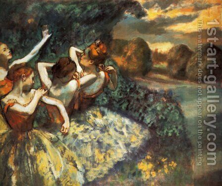 Four Dancers by Edgar Degas - Reproduction Oil Painting