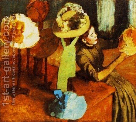 The Millinery Shop 1882-86 by Edgar Degas - Reproduction Oil Painting
