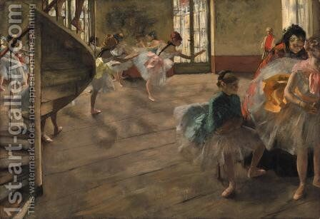 The Rehearsal 1877 by Edgar Degas - Reproduction Oil Painting