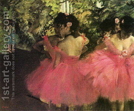 Dancers In Pink by Edgar Degas - Reproduction Oil Painting