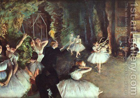 Rehearsal on the Stage 1878-79 by Edgar Degas - Reproduction Oil Painting