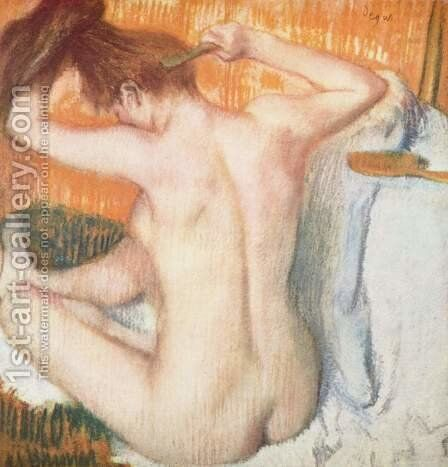 Woman Combing Her Hair by Edgar Degas - Reproduction Oil Painting