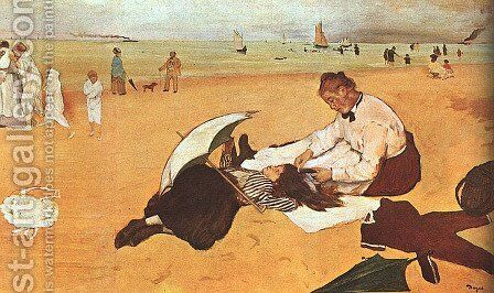 At the Beach 1876 by Edgar Degas - Reproduction Oil Painting