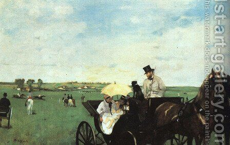 At The Races In The Country by Edgar Degas - Reproduction Oil Painting