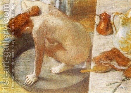 The Tub 1886 by Edgar Degas - Reproduction Oil Painting