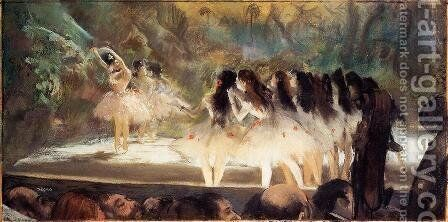 Ballet at the Paris Opéra 1877- 78 by Edgar Degas - Reproduction Oil Painting