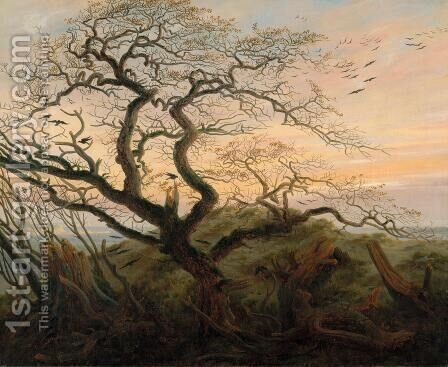 The Tree of Crows c. 1822 by Caspar David Friedrich - Reproduction Oil Painting
