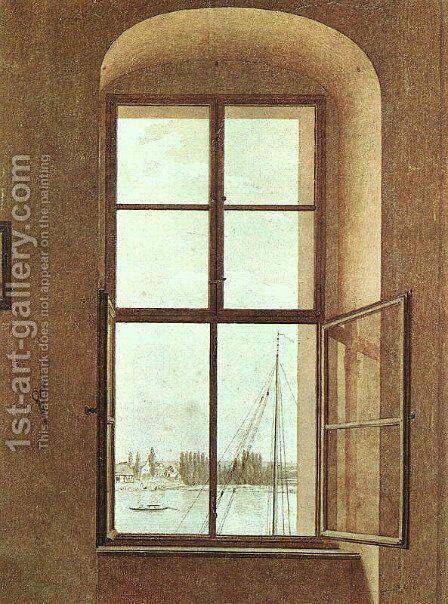 View from the Painter's Studio 1805-06 by Caspar David Friedrich - Reproduction Oil Painting