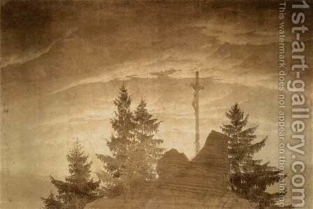 Cross in the Mountains 1805-06 by Caspar David Friedrich - Reproduction Oil Painting