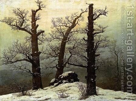 Dolmen In The Snow by Caspar David Friedrich - Reproduction Oil Painting