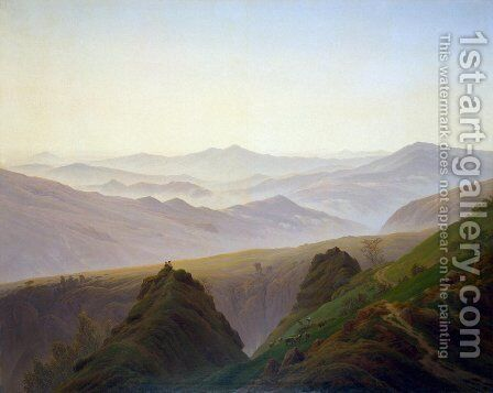Morning in the Mountains 1822-23 by Caspar David Friedrich - Reproduction Oil Painting