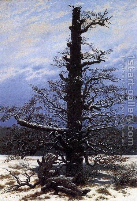 The Oaktree in the Snow 1829 by Caspar David Friedrich - Reproduction Oil Painting